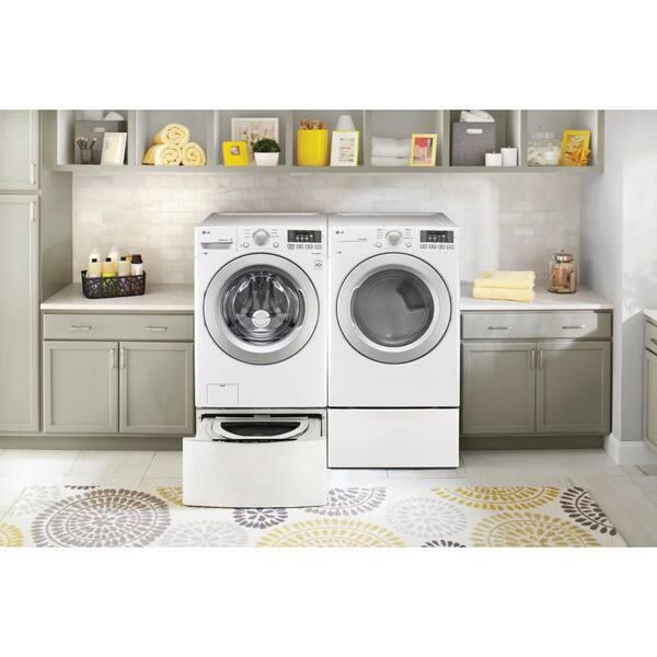 Washing Machine Laundry Pedestal Metal Stand Raiser Base Utility Room Furniture
