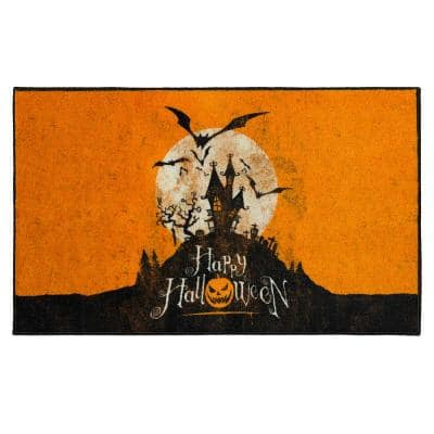 Halloween Hill Orange 2 ft. 6 in. x 4 ft. 2 in. Holiday Area Rug