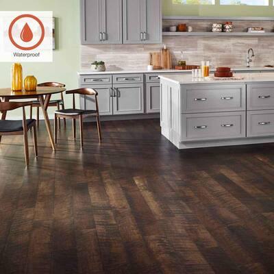 Outlast+ 6.14 in. W Molasses Maple Waterproof Laminate Wood Flooring (451.36 sq. ft./pallet)