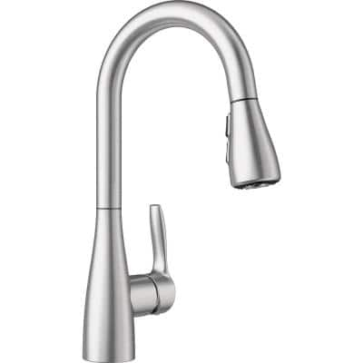 Atura Single-Handle Bar Faucet with Pull-Down Sprayer in Stainless