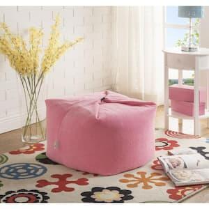 Magic Pouf Pink Microplush Bean Bag Chair Convertible Ottoman/Floor Pillow