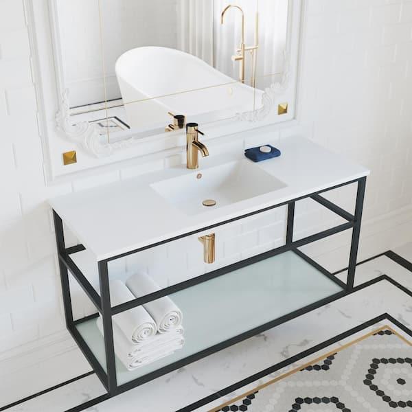 Swiss Madison Pierre 48 In Single, Metal Bathroom Sink