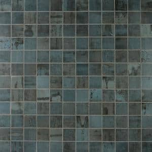 Angela Harris 12 in. x 12 in. Dark Blue Porcelain Mosaic Floor and Wall Tile (0.92 sq. ft./ piece)
