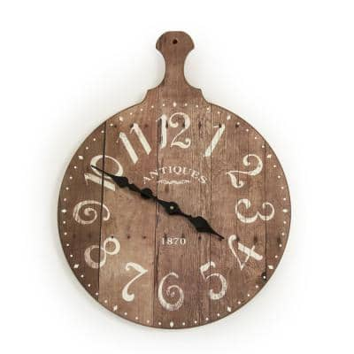 Avellino Rustique Wooden Weathered Board Clock