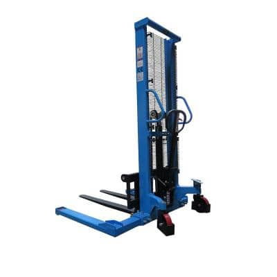 Straddle Pallet Truck Stacker 2200 lbs. 63 in. Adjustable Legs and Forks with German Seal System