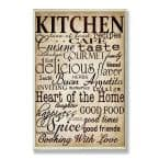 """12.5 in. x 18.5 in. """"Words In The Kitchen Off White"""" by Gplicensing Printed Wood Wall Art"""
