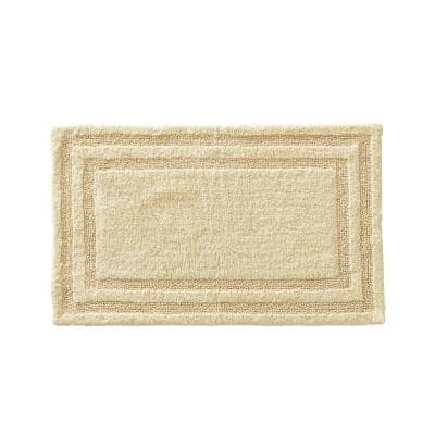 Isla 2-Piece Yellow Cotton 17 in. x 24 in. / 21 in. x 34 in.Rug Set