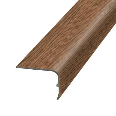 Chocolate 1.32 in. Thick x 1.88 in. Wide x 78.7 in. Length Vinyl Stair Nose Molding