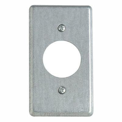 1-Gang 4 in. Metal Electrical Box Cover for Single Round Receptacle (Case of 25)
