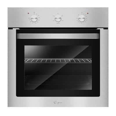 24 in. Single Electric Wall Oven with Basic Broil/Bake Functions Mechanical Knobs Control in Stainless Steel