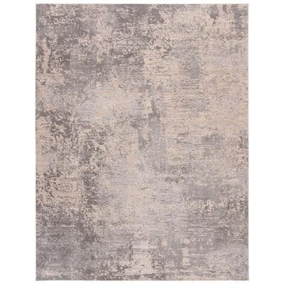 Invista Gray/Cream 9 ft. x 12 ft. Abstract Area Rug