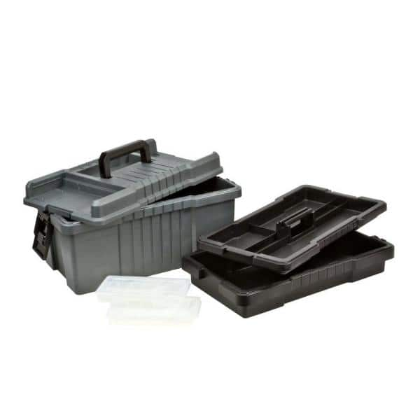 22-Inch Graphite Gray with Iron Yellow Plano Molding 701 Extra Deep Tool Box