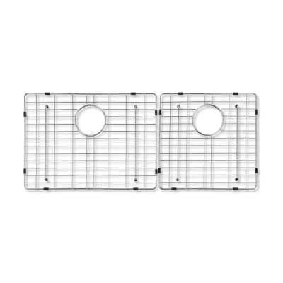 Crowley Wire Grid for Double Bowl Kitchen Sinks in Stainless Steel