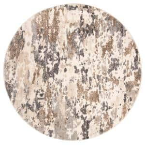 Spirit Taupe/Ivory 7 ft. x 7 ft. Round Area Rug
