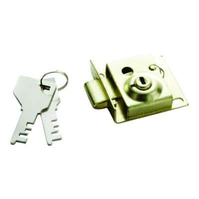 5/16 in. Polished Brass Bolt Mailbox Lock