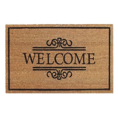 Welcome 18 in. x 30 in. PVC Printed Coir Door Mat