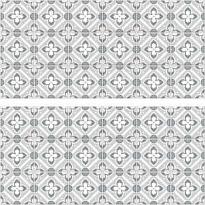 Galway Gray Tile Backsplash Peel and Stick Giant Wall Decals