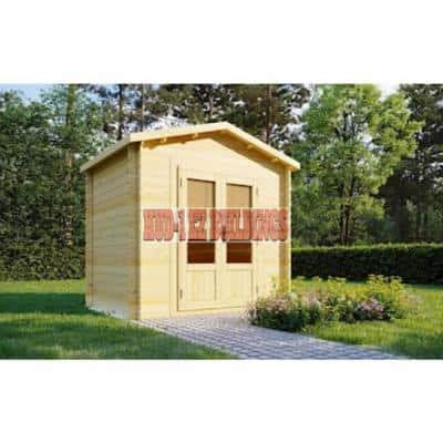 Tina Ad DIY Log Cabin Style Garden House Storage Building Kit