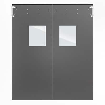 Optima 1/4 in. x 96 in. x 96 in. Single-Ply Light Gray Impact Door