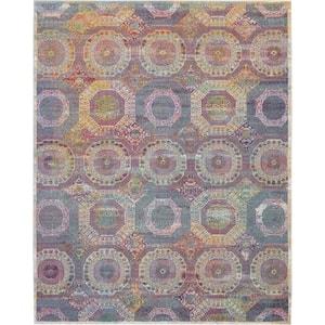 Global Vintage Multicolor 9 ft. x 12 ft. Moroccan Bohemian Area Rug