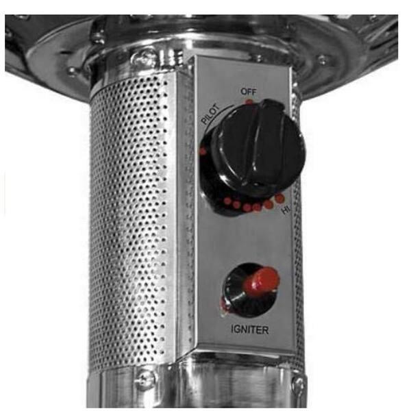 Hampton Bay 48000 BTU Stainless Steel Patio Heater  In Hand Ships ASAP
