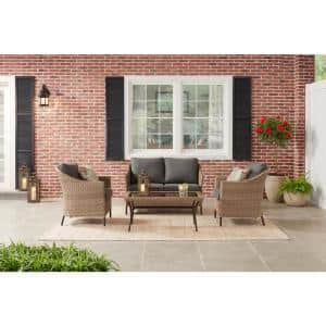 StyleWell Kendall Cove 4-Piece Steel Patio Outdoor Seating Set Deals