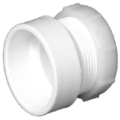 1-1/2 in. PVC DWV Female Trap Adapter with Washer/P-Nut