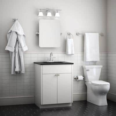 Portwood Bath Accessory Set in SpotShield Brushed Nickel with Towel Bar, Toilet Paper Holder, Towel Ring and Towel Hook
