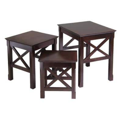 Xola 21 in. Cappuccino Medium Square Wood Coffee Table