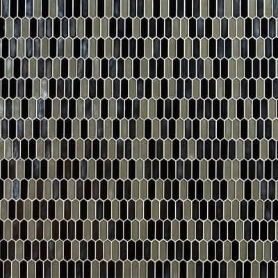 Pixie Metallica Hand Crafted 11.52 in. x 9.82 in. x 8 mm Glass Mosaic Wall Tile (7.9 sq. ft. / Case)