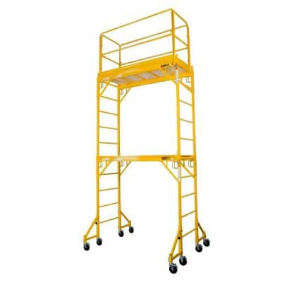 Jobsite Series Baker 12 ft. x 6.1 ft. x 2.5 ft. Steel Scaffold Tower with 1000 lbs. Load Capacity