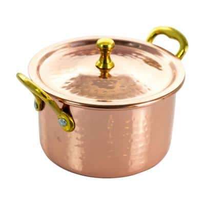 Rembrandt 15 oz. Stainless Steel Mini Casserole with Lid in Copper