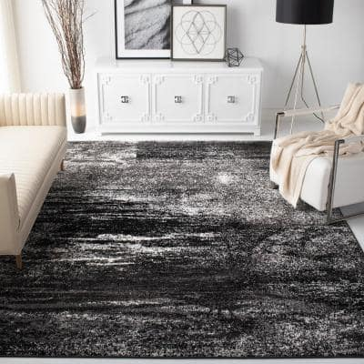 Adirondack Silver/Black 8 ft. x 10 ft. Area Rug