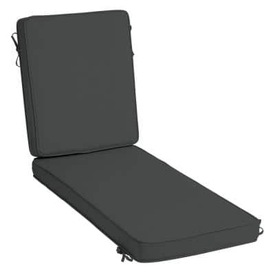 ProFoam 21 in. x 72 in. Slate Acrylic Outdoor Chaise Lounge Cushion