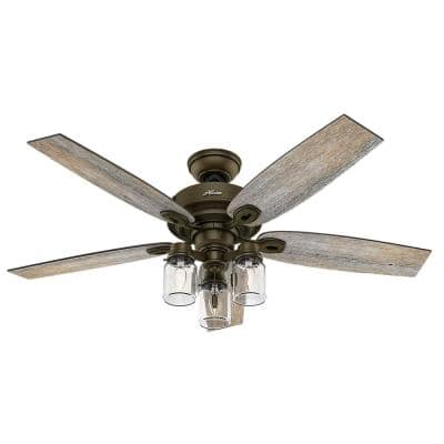 Crown Canyon 52 in. Indoor Regal Bronze Ceiling Fan with Light
