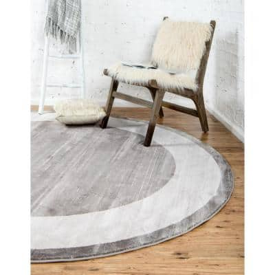 Uptown Collection Yorkville Gray 8' 0 x 8' 0 Round Rug