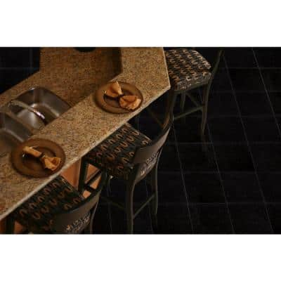 Black Galaxy 12 in. x 12 in. Polished Granite Floor and Wall Tile (10 sq. ft. / case)