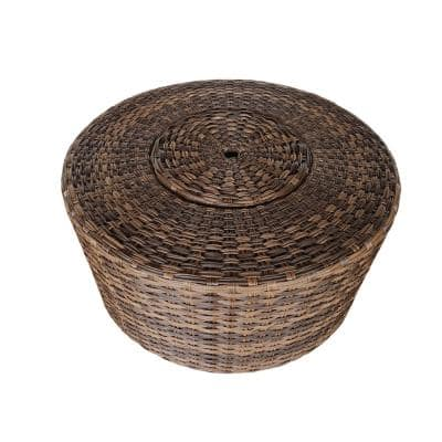 Outdoor Wicker Round Coffee Table