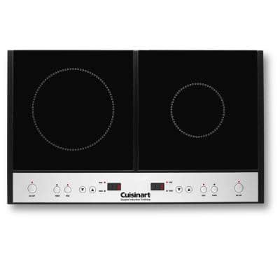 2-Burner 12 in. Glass Induction Cooktop with Temperature Control