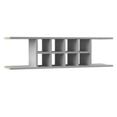 Shaker Partially Assembled 48 x 13.375 x 11.25 in. Wall Flex Shelf in Dove Gray