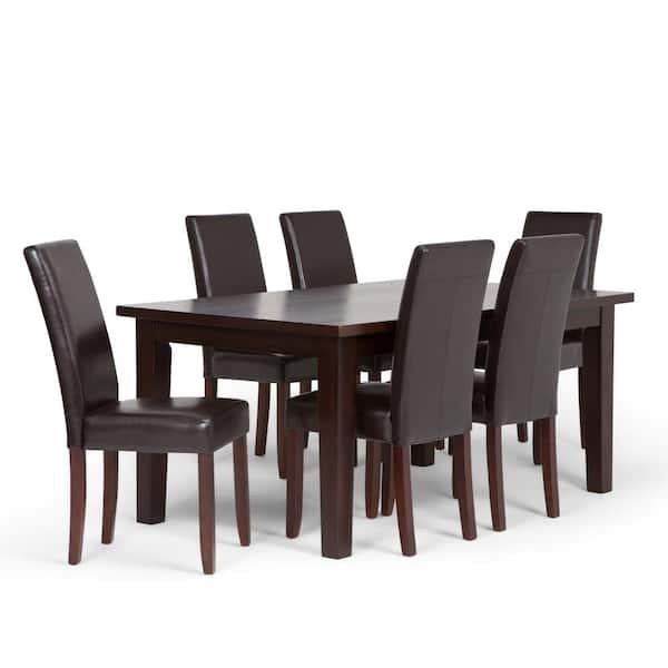 Simpli Home Acadian 7 Piece Dining Set, Nine Piece Dining Room Table Set