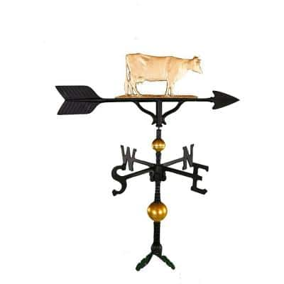32 in. Deluxe Gold Cow Weathervane