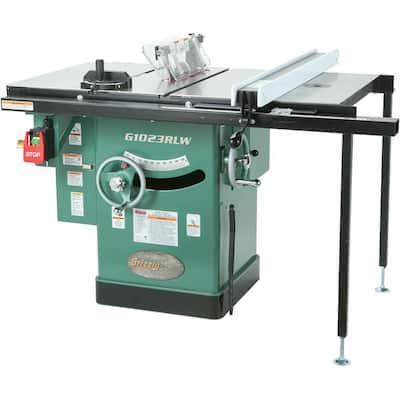 10 in. 3 HP 240-Volt Cabinet Left-Tilting Table Saw