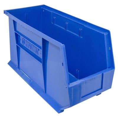 Ultra-Series 5 Gal. Stack and Hang Storage Tote in Blue (6-Pack)