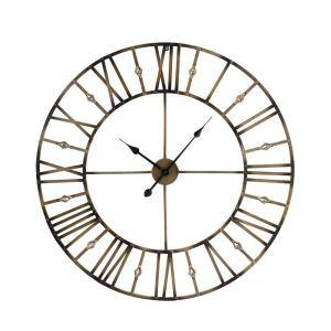 32.5 in. Metal Glam Round Wall Clock