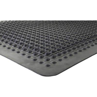 Flex Step Black 24 in. x 36 in. Rubber Anti-Fatigue Mat