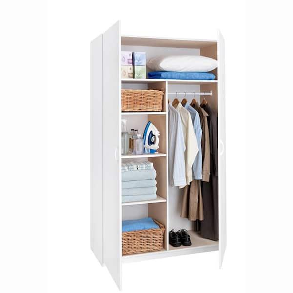 White Melamine Jumbo Storage Cabinet, White Melamine Garage Storage Cabinets