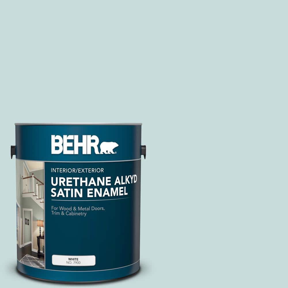Reviews For Behr 1 Gal S440 1 Sunken Pool Urethane Alkyd Satin Enamel Interior Exterior Paint 790001 The Home Depot