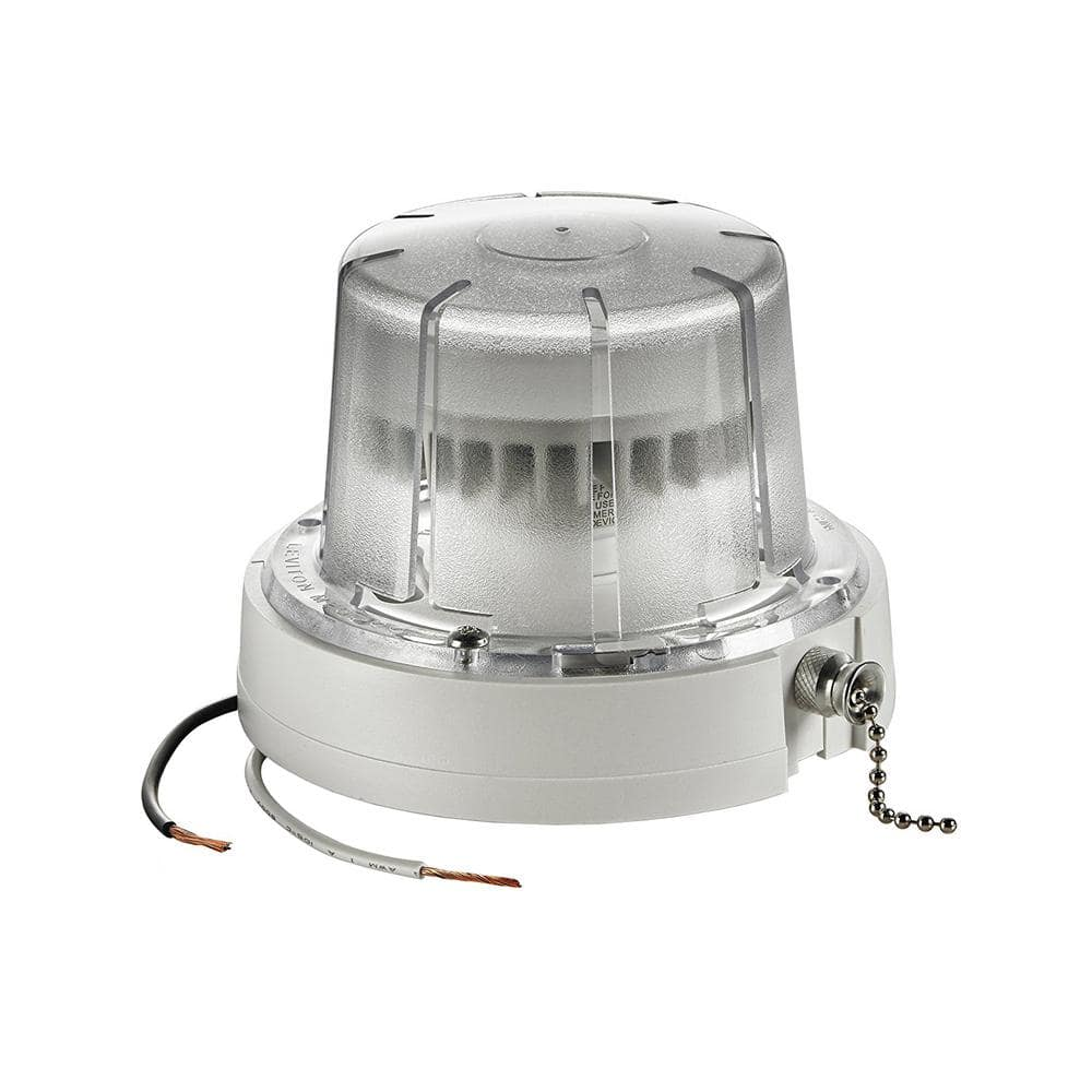 Reviews For Leviton 10 Watt Led Ceiling Lamp Holder With Pull Chain White R50 09852 000 The Home Depot