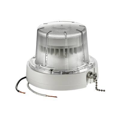 10-Watt LED Ceiling Lamp Holder with Pull Chain, White